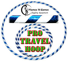 HULA HOOPS / Weighted Hula Hoop / Fitness & Dance HOOP - (White/UV Blue)