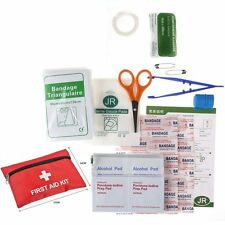 43 PIECES  FIRST AID EMERGENCY KIT CAR BIKE HOME MEDICAL BAG OUTDOOR SPORT
