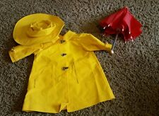 American Girl Pleasant Company Rain coat hat umbrella