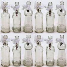 12 x Glasflaschen H 16 cm Glasfläschchen Vase Vasen Tischvase Dekoflaschen