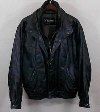 Wilson's Leather Jacket MEDIUM Black Genuine Leather Mens