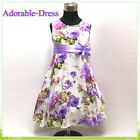 Purples Wedding Party Flower Girls Pageant Dresses AGE SIZE 2-3-4-5-6-7-8-10-12Y
