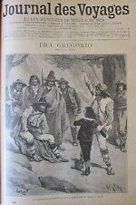 JOURNAL DES VOYAGES N° 886 de 1894 ITALIE SICILE CATANE FRA GREGORIO JEU BERBERE