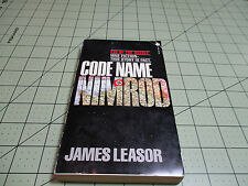 CODE NAME NIMROD BY JAMES LEASOR  (1982) PLAYBOY PRESS WW2 BRITISH SPY ACTION