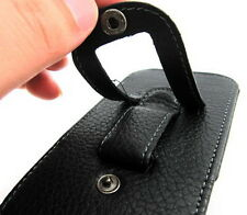 Hot Black Leather Belt Clip Holster Pouch Carrying Case for Apple iPhone 4G 4S