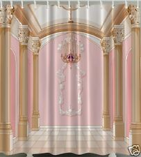 Palace Ballroom SHOWER CURTAIN Columns Chandelier Glamour Diva Fabric Bath Decor