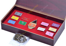 Digimon Adventure Tag and Emblem Necklace Pendant Keychain keyring 11PC +Woodbox
