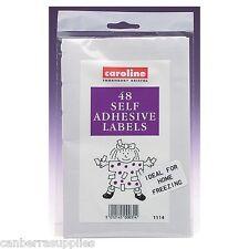 Congélateur adhésif le stockage d'aliments étiquettes pack de 48 *** *** port gratuit uk