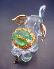 Little Glass ELEPHANT, Pretty Decorative Gift, Glass Animal Ornament,Cute Figure