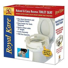 Raised Easy Wiping Access Toilet Seat Supports Up To 450 Lbs Bathroom Safety