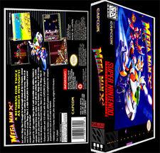 Mega Man X2 - SNES Reproduction Art Case/Box No Game.