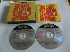 FRANK ZAPPA - You Can't Do That on Stage Anymore vol. 1(2CD FAT BOX 1988)
