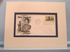 Frontiersman Davy Crockett & the First day Cover of the Davy Crockett stamp