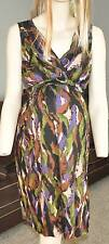 NWT $54-Oh Baby Motherhood Maternity Nursing Brown Empire Summer Dress-sz M