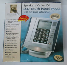 Innovage Corded LCD Touch Panel Phone  SPEAKER / CALLER ID NIB Silver / Gray
