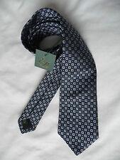 EDE Ravenscroft nuovissimo Multi Blu Cravatta Di Seta, prezzo consigliato £ 80