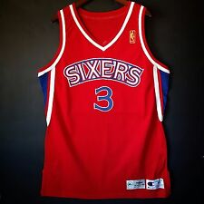 100% Authentic Allen Iverson Champion Pro Cut NBA @50th Sixers 76ers NBA Jersey