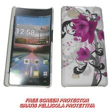 Pellicola+custodia BACK COVER ORCHIDEA VIOLA per LG Optimus 4X HD P880 (C7)
