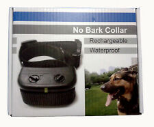 Waterproof Anti-Bark Collar Stop Barking Vibration Shock Trainning Dog Collar