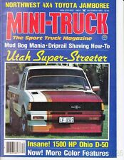 Dec 1983 Mini-Truck magazine Mud Bog Mania Northwest 4x4 Toyota Jamboree
