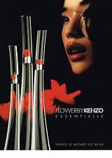 PUBLICITE ADVERTISING 104  2009  FLOWERBY   parfum de femme par KENZO