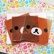 10 pc Rilakkuma Face Self Adhesive Plastic Jewelry Cookie Packing Bags