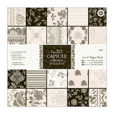 "Papermania 6x6"" scrapbooking paper capsule collection 32 sheets Midnight Blush"