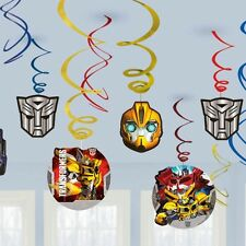 TRANSFORMERS VALUE SWIRLS - HANGING DECORATION PACK OF 12