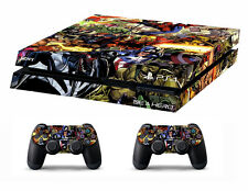 PS4 vinyl Skin Stickers marvel heroes style for Console & 2 controllers