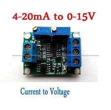 Current to Voltage 4-20mA to 0-15V  5/10V Isolation Transmitter Signal Converter