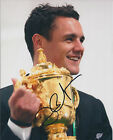 Dan CARTER Signed Autograph 10x8 Photo AFTAL COA RUGBY All Blacks World Cup