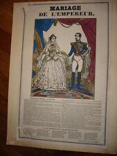 GRAVURE NAPOLEON 1810 MARIAGE DE L'EMPEREUR
