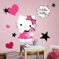 "HELLO KITTY COUTURE 20"" Giant Wall Decals Pink Black Vinyl Room Decor Stickers"