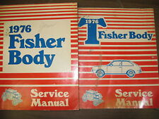 1976 ALL MODELS GM FISHER BODY SERVICE MANUAL SET OF 2