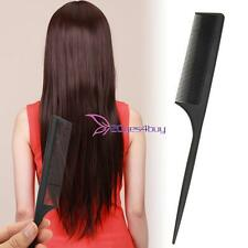 New Women Hair Make Accessory Care Styling Pointed Rat Tail Comb Durable Black