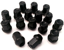 Set of 16 M12 x 1.5 19mm Hex alloy wheel nuts lugs bolts in black for Ford Cars