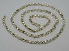 "*SUPERB STERLING SILVER 20"" LONG BELCHER LINK CHAIN NECKLACE-16.2 GRAMS*"