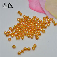 Wholesale 2-14mm no hole ABS Pearl whole circle Spacer Loose charm Beads DIY