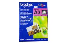 Original Brother A3 Inkjet Papier matt  BP-60MA3  dokumentenecht 25 Blatt
