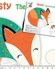 Rusty The Fox Cushion 100% Cotton Printed Fabric Panel For Making The Cushion