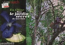 Coupure de presse Clipping 2011 Le Jardin secret de Guerlain en Chine (5 pages)