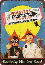 "7"" x 10"" Metal Sign - 1929 Wrigley's Spearmint Gum and Halloween - Vintage Look"