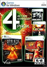 4 ACTION STRATEGY PACK:STALKER,SHADOW HARVEST,STORM, GRAND AGES ROME.SHIPS FREE!