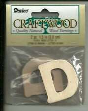 "1 1/2"" Wooden Letter ""D"" (2 in Pack) *NEW* Unfinished Wood Alphabet Cutout"