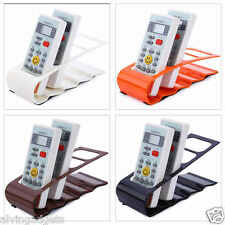 DVD TV VCR Remote Control Holder Stand Storage Organizer (Orange)
