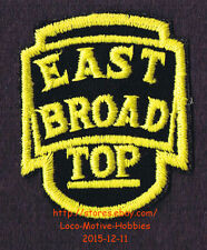 LMH PATCH Badge EAST BROAD TOP Railroad EBT Railway 3' NARROW GAUGE Short Line b