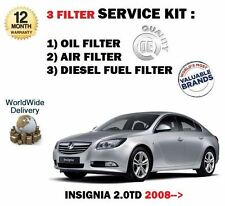 FOR VAUXHALL INSIGNIA 2.0 DT CDTi 2008-  SERVICE KIT OIL AIR FUEL 3 FILTER SET
