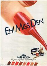 PUBLICITE ADVERTISING 085  1982  MISS DEN  maquillage vernis ongles