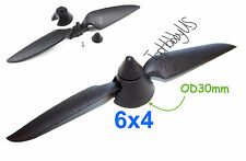 6x4 Plastic Folding Propeller Assembly (2.3mm Blush Motor Only), US TH025-00206B