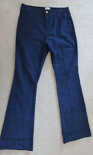 Ladies Blue Cords Flared High Waisted BIRKIN Jeans REISS 1971 Flares Sz 12 Long